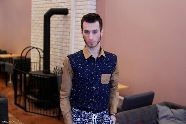 męska koszula we wzory