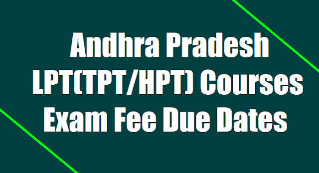AP LPT/Language Pandit Course(TPT/HPT) Exam Fee Due Dates 2019