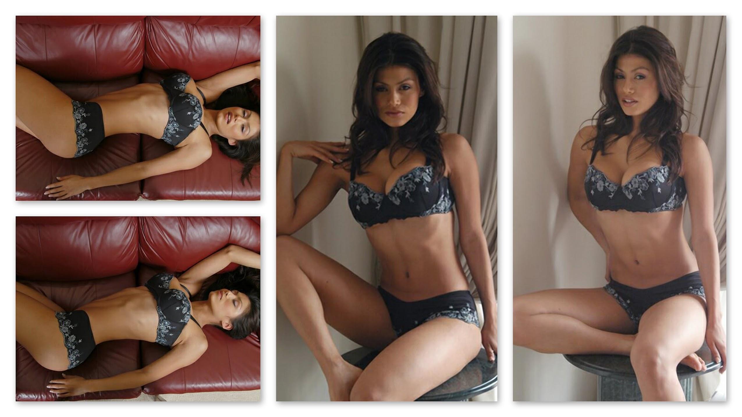 Renata Gonzalez Fotos Modelando Lencería Negra Foto 1
