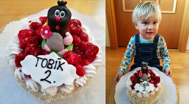 druhé narozeniny dort krtek