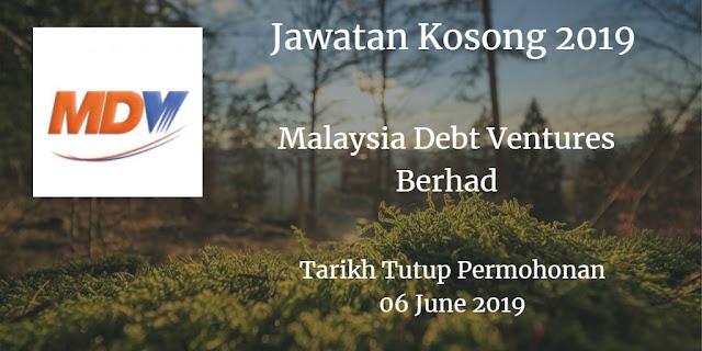 Jawatan Kosong Malaysia Debt Ventures Berhad 06 June 2019