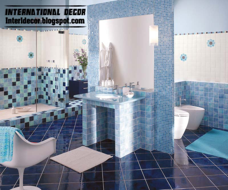 turquoise mosaic tiles contemporary turquoise bathroom tiles design turquoise bathroom - Mosaic Tile Design Ideas