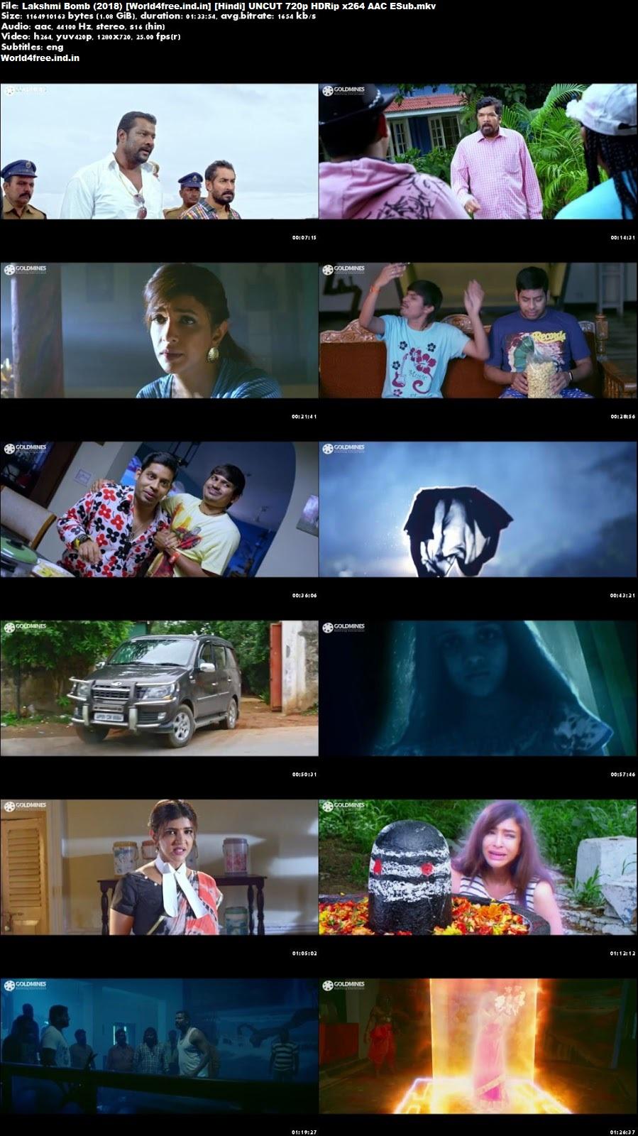 Lakshmi Bomb 2018 world4free HDRip 720p Hindi Dubbed Movie Download