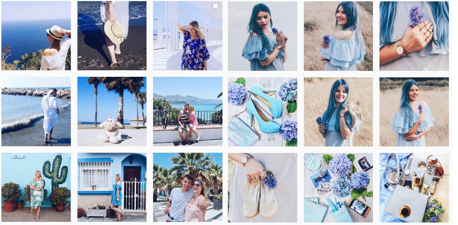 2 inspirujące konta na instagramie przykłady  ładne profile instagramowe jak obrabiać zdjęcia hasztagi polskie łódź instagramerzy