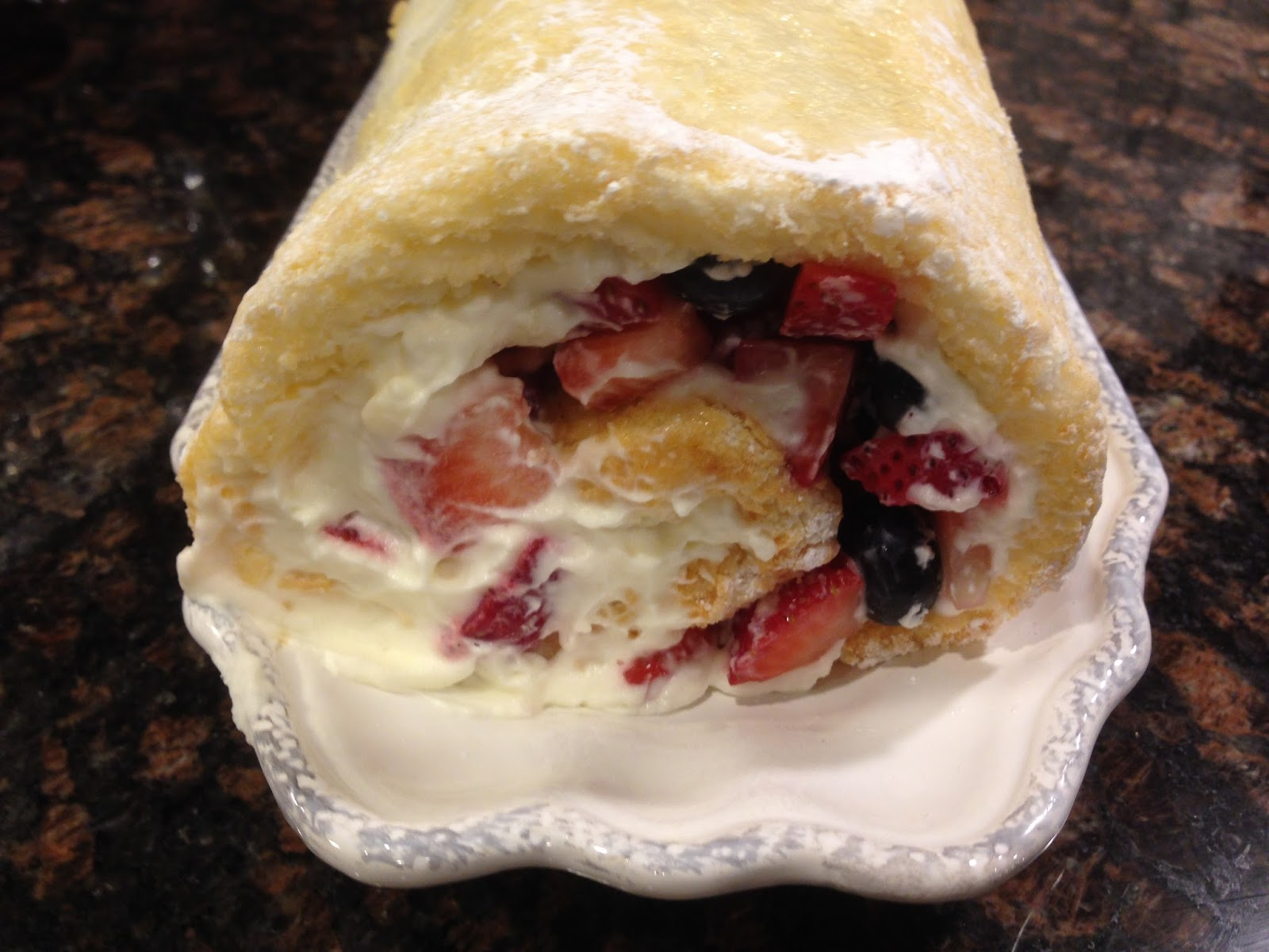 Rolling Angel Food Cake Roll Up Recipe