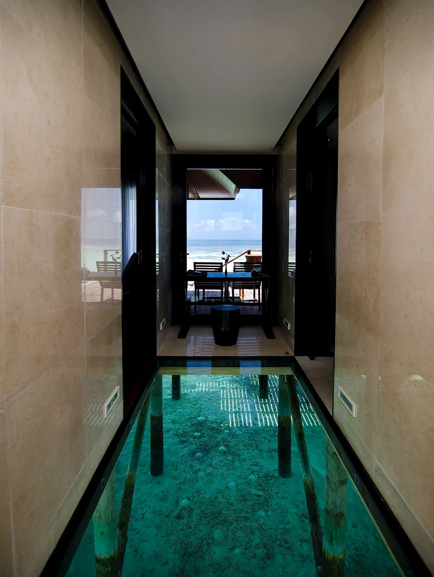 Glass Floor Over water