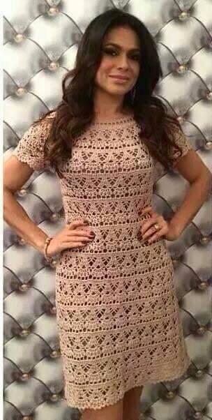 Vestido de Encaje a Crochet