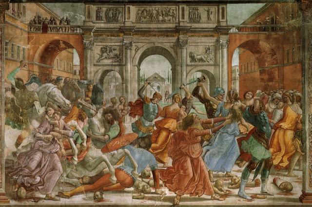 Domenico Ghirlandaio, affresco, 1486-90, Santa Maria Novella, Firenze