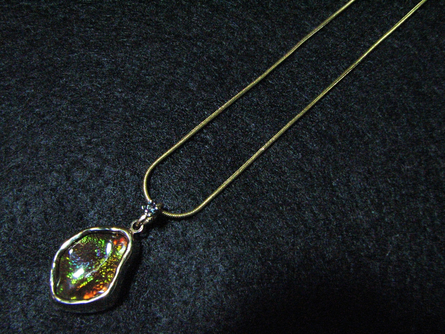 Fire Agate and Alexandrite necklace