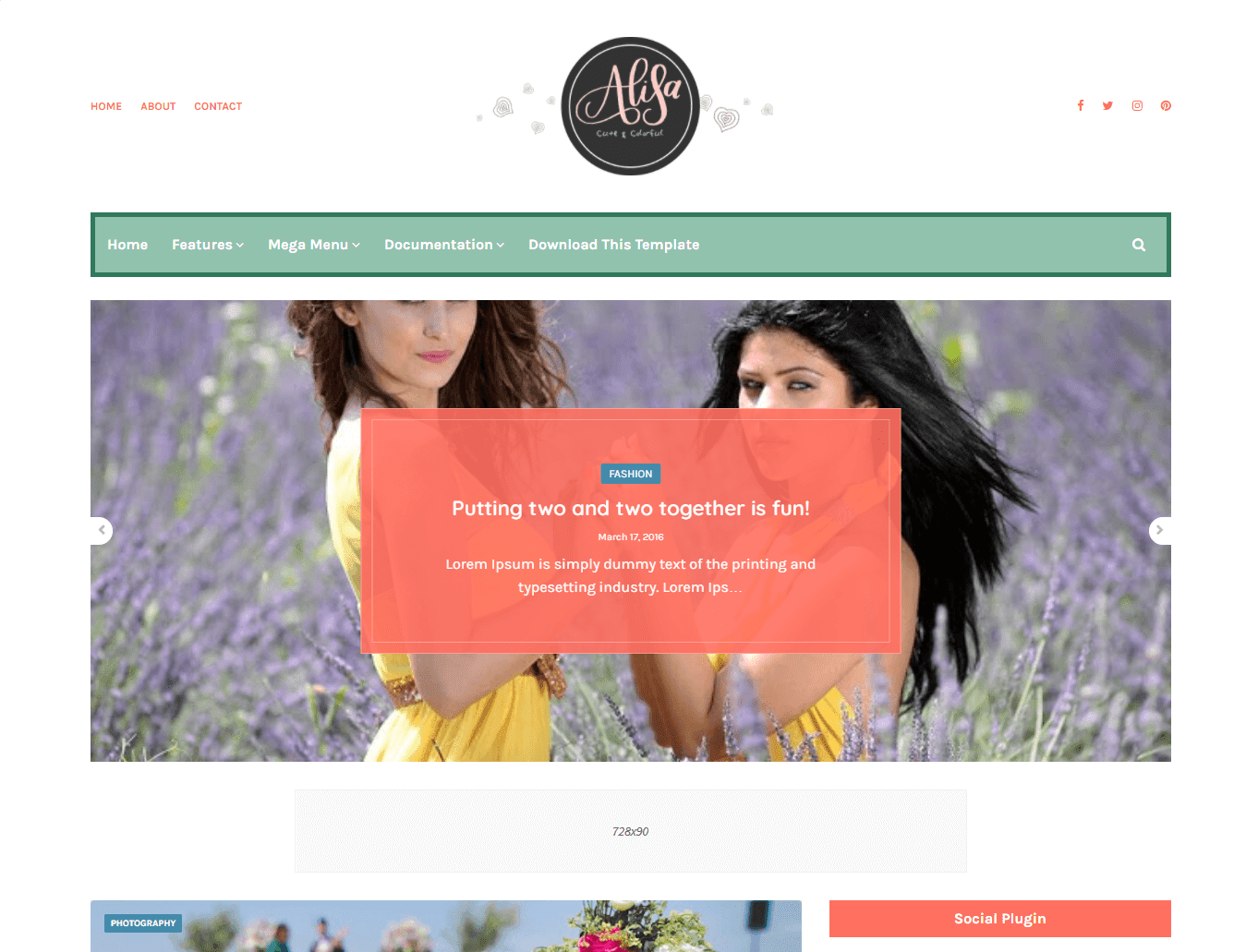 Alisa Blogger Template