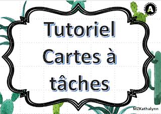 Réaliser des cartes à tâches modèles tutoriel