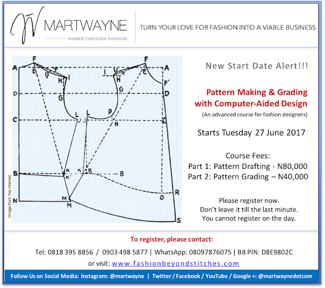 Counting Down to Pattern Making with Computer Aided Design Course