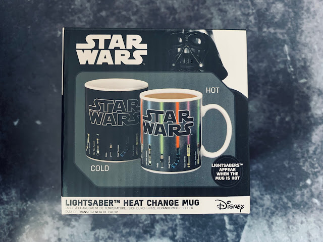 Close up of the packaging of the Star Wars Lightsaber heat change mug