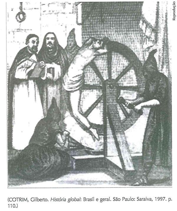 Ela refere-se às penas aplicadas pelos Tribunais de Inquisição, criados em 1231 pelo papa Gregório IX, com a missão de julgar os hereges