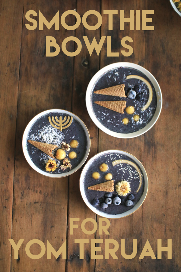 Smoothie Bowls for Yom Teruah - healthy and delicious breakfast for the Feast of Trumpets | Land of Honey