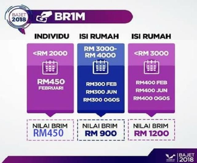 Semakan permohonan BR1M online