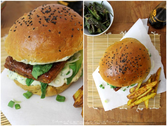 veggie tofu burger asia style