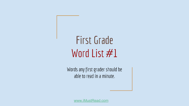 First Grade Sight Words List with Worksheet & Printable PDF Format : List #1
