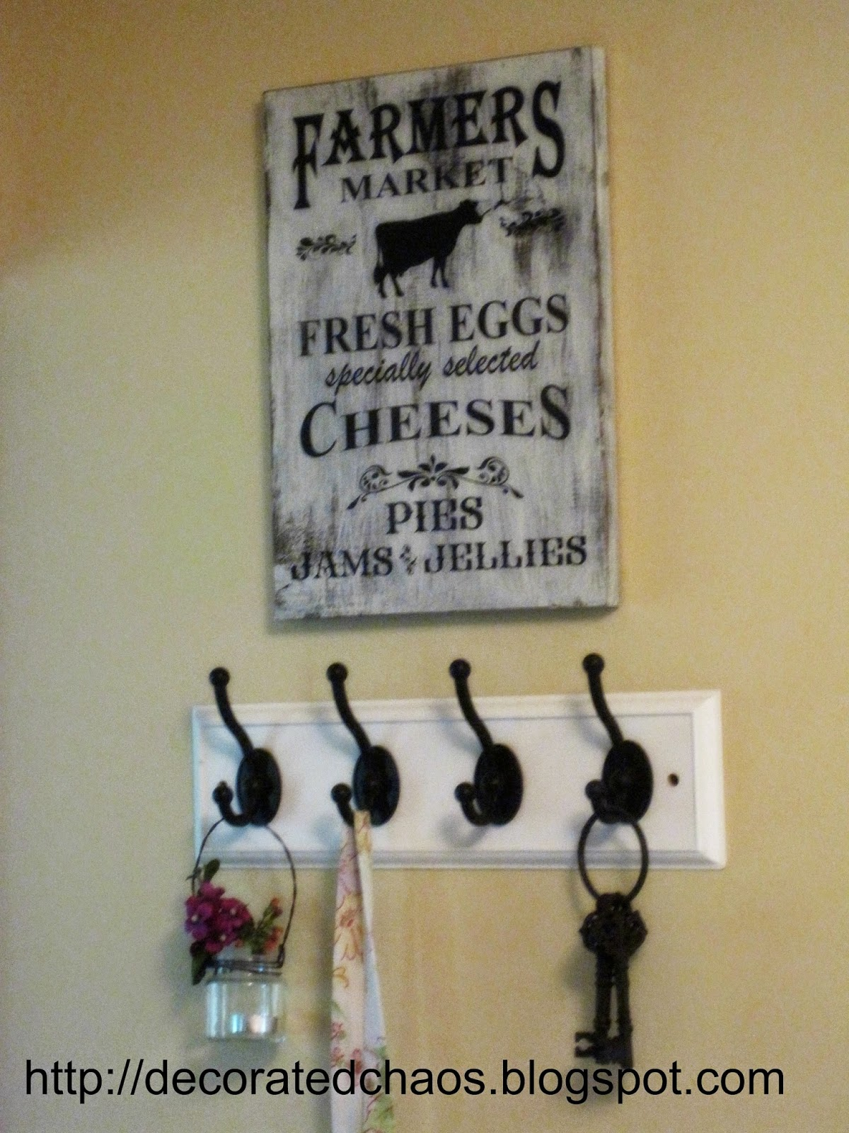 Decorated Chaos Diy Farmhouse Kitchen Sign