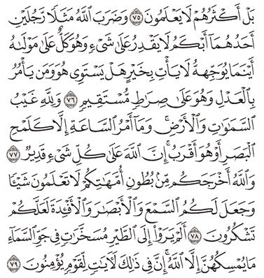 Tafsir Surat An-Nahl Ayat 76, 77, 78, 79, 80