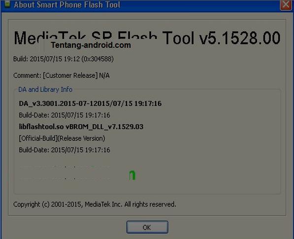 Update SP Flash Tool v 5.1528.00