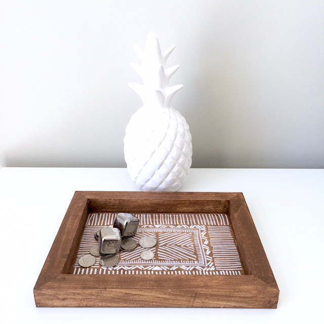 DIY Wooden Aztec Tray Anthropologie Inspired - Harlow and Thistle - 8