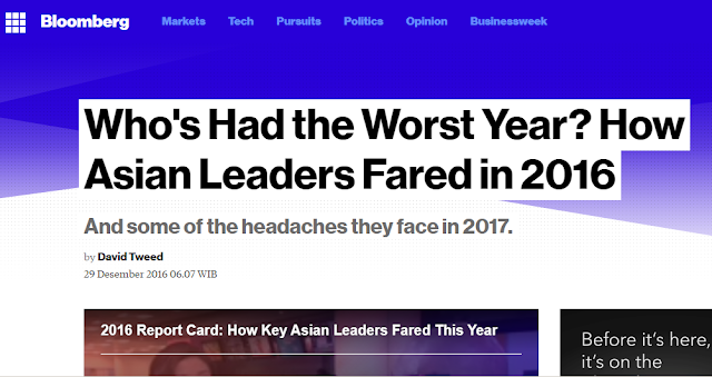 Who's Had the Worst Year? How Asian Leaders Fared in 2016, and some of the headaches they face in 2017