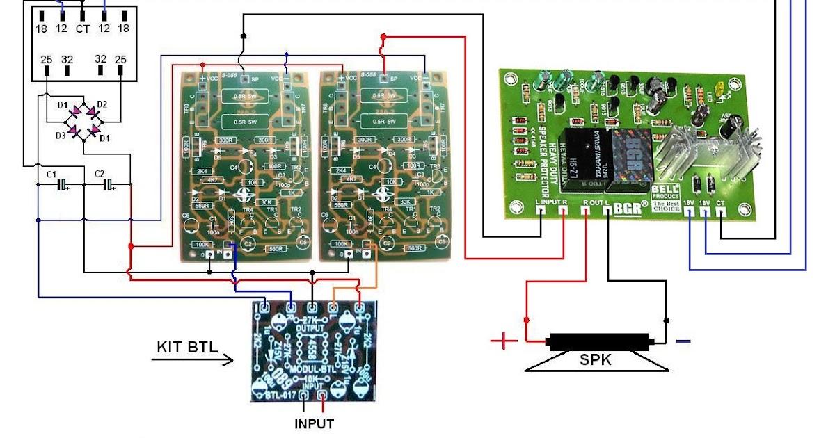 cara pasang speaker protector untuk power btl bahar electronic. Black Bedroom Furniture Sets. Home Design Ideas