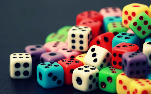 "The dots on dominoes and dice are called ""pips"" 