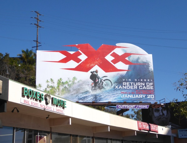 XXX Return Xander Cage extension billboard