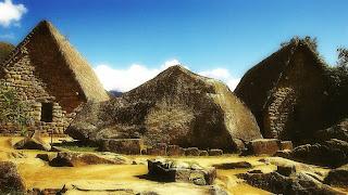 A Rocha Sagrada e As Huayranas, em Machu Picchu