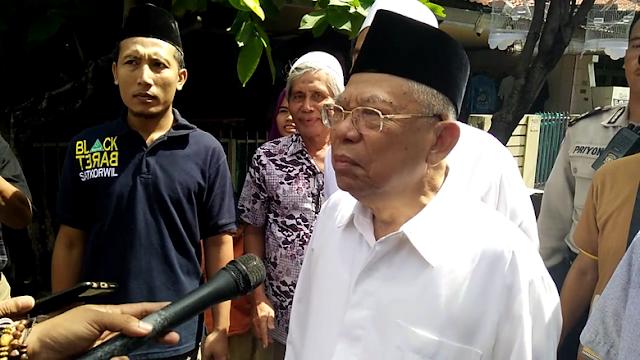 KH Ma'ruf Amin: Demoi 212 Sangat Politis, Saya Larang Umat Islam Ikut Itu