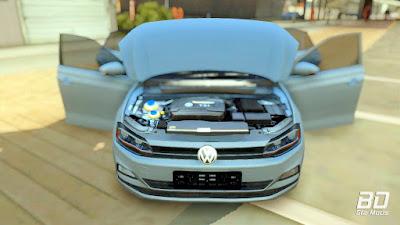 Download do mod Volkswagen Polo 2019 para o jogo GTA San Andreas PC cofre capo