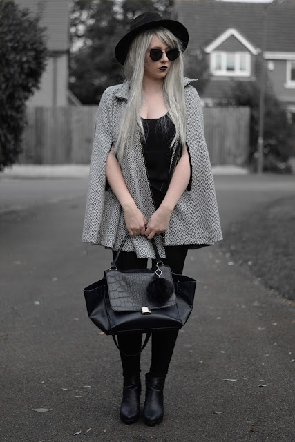 Sammi Jackson - Choies Grey Cape Coat