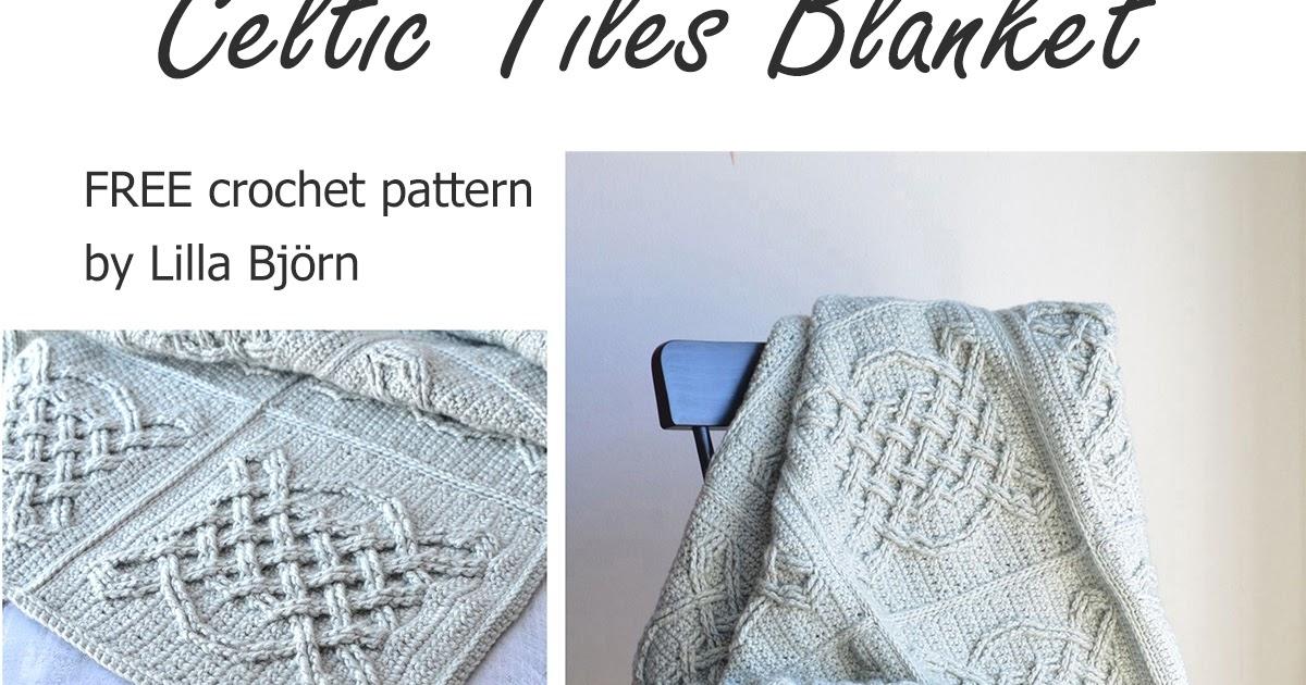 Celtic Tiles Blanket Free Overlay Crochet Pattern Lillabjrns
