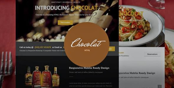 Bootstrap Restaurant Template 2015
