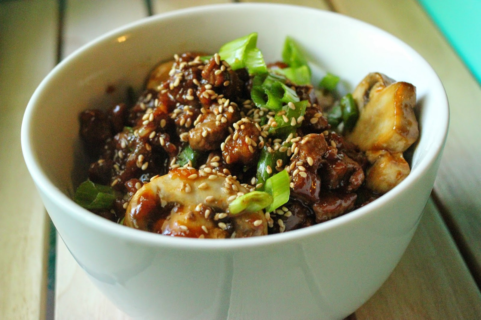 Easy Mongolian Beef with Mushrooms (Inspired by PF Chang's Copy Cat)