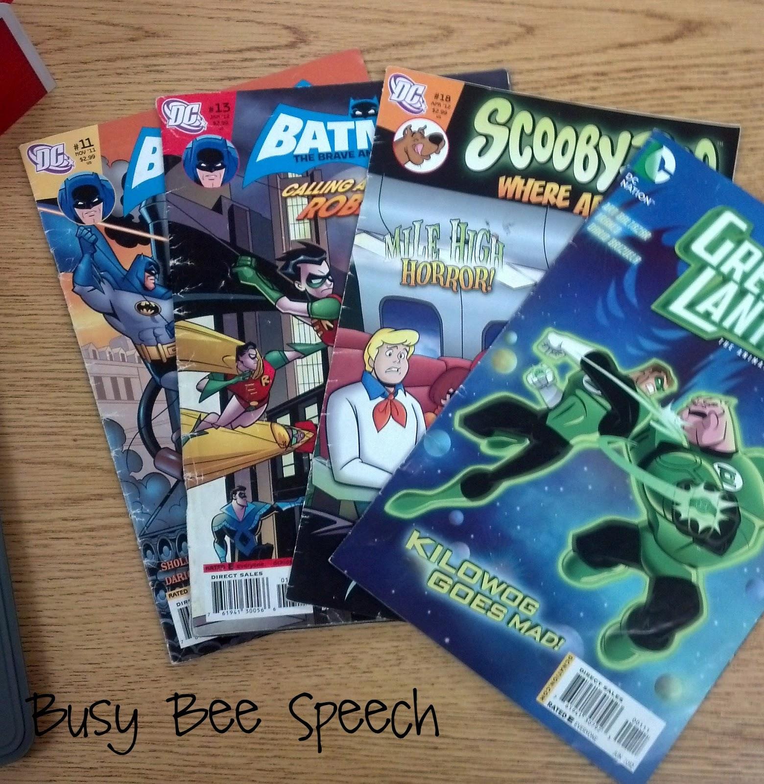 Busy Bee Speech Superhero Comic Book Companion Pack