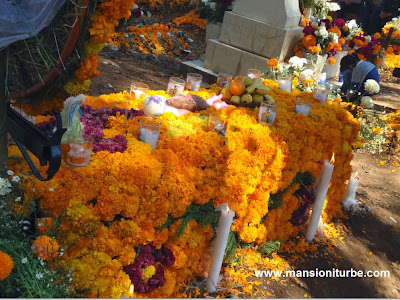 Ofrendas in Patzcuaro, Mexico for Day of the Dead