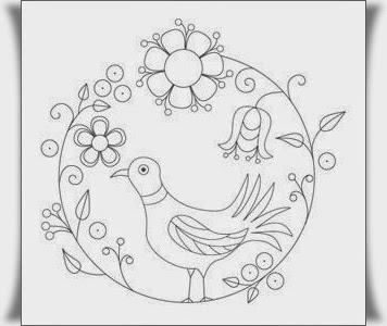 Kuş Boyama Resimleri Elişi çalışmaları