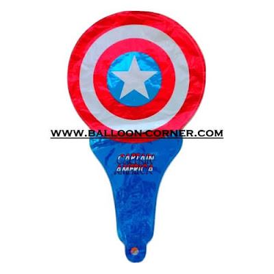 Balon Foil Raket Karakter / Balon Souvenir Ulang Tahun Karakter Tameng Captain America
