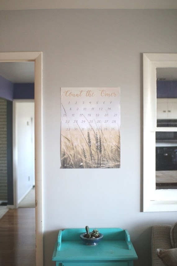 Scratch Off Omer Counter - easy DIY for the Feasts   Land of Honey