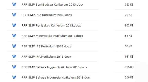 Silabus dan Contoh RPP SMP Kurikulum 2013