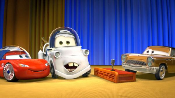 AMERICAN TELEVISION HOST: So, Mater, when does an astronaut eat?