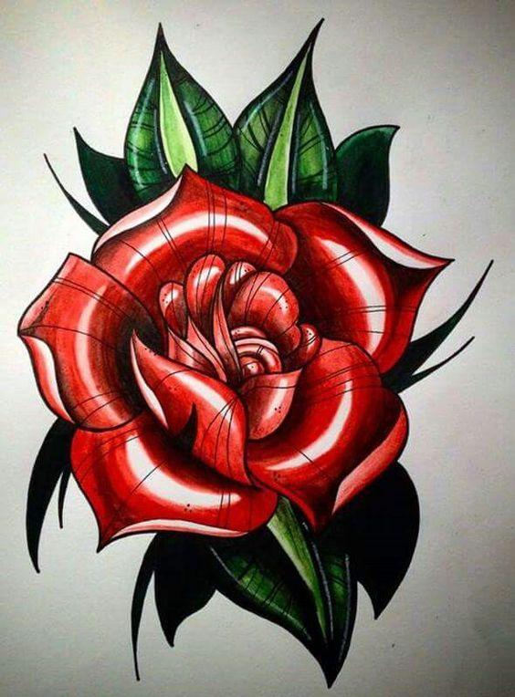 Los mejores dibujos de rosas a lápiz a todo color