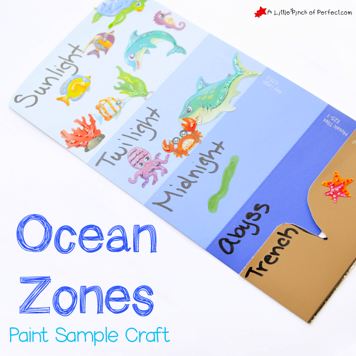 Learning About The Layers Of The Ocean Paint Sample Craft