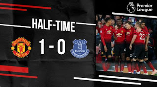 HT: Manchester United vs Everton 1-0 Highlights