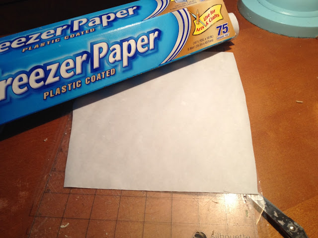 Freezer paper, stencil, Silhouette tutorial