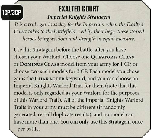 Estratagemas Imperial Knights