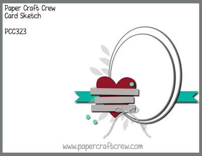 Paper Craft Crew Card Sketch Challenge #PCC323